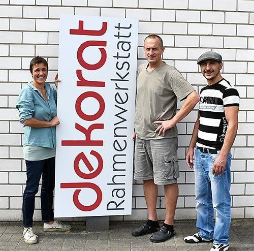 Team der Rahmenwerkstatt dekorat in Neumünster